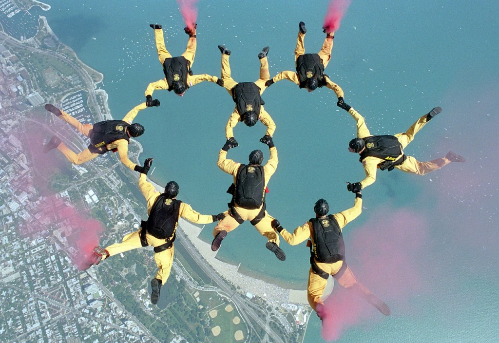 skydinving team player